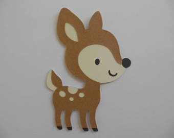 Baby Deer - Woodland Animal Cutouts - Forest Animal Cutouts - Gender Neutral Baby Shower Decorations - Child Birthday Decorations - Set of 1