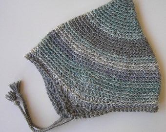 Crocheted Alpine Hat - Icy Gray