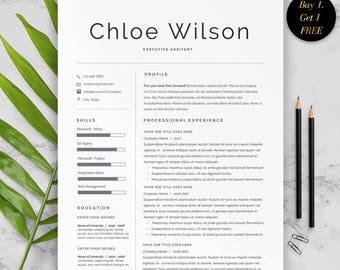 Professional Resume Template for Word, 2 Page Resume Template, Modern Resume Design