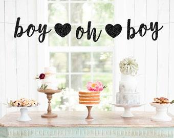 Boy oh boy banner | gender reveal banner | baby shower decorations | baby shower banner | gender reveal decorations | baby shower decor