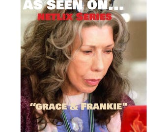 """Featured of """"Grace and Frankie"""" Season 4 Quartz Crystal on Brass Chain"""