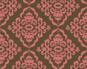 Lila Tueller Fabric, Fiona's Fancy by Lila Tueller for Riley Blake Fabrics, C2673 Brown Fiona Damask