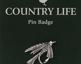 Fishing Fly Pewter Pin Badge