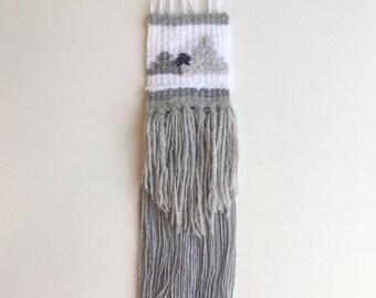Snowy - Modern Tapestry / Woven Wall Hanging / Weaved Wall Art / Fibre Art/ Textile Art / Hand Woven Art