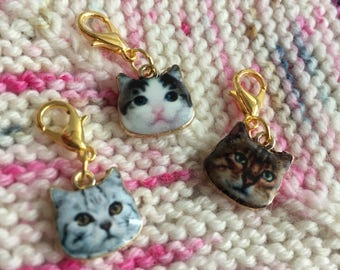 Cat / kitten progress keepers (set of 3)