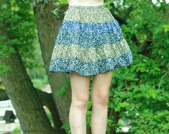 Vintage Patterned Circle Skirt