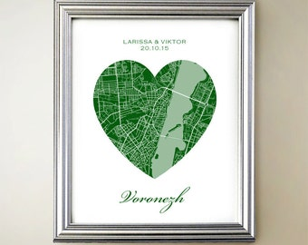 Voronezh Heart Map
