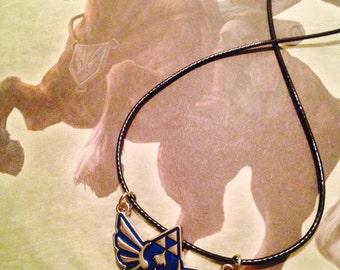 Legend of Zelda Blue Triforce Necklace