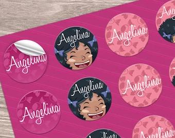 "250 round stickers - 2"" diameter glossy full color circular -  custom printed"