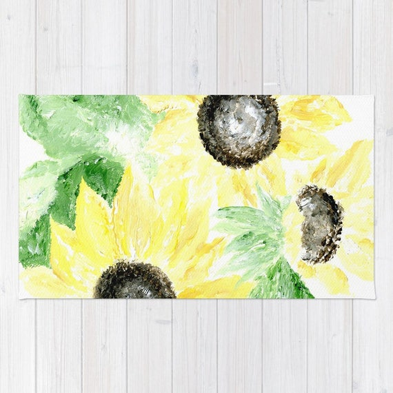 Sunflower Yellow Area Rug by lake1221