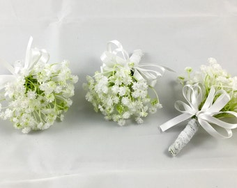 Artificial Baby Breath Buttonhole