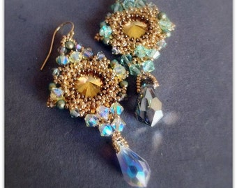 Instant download- Madagascar beaded earrings Tutorial