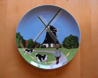 Vintage set of wall plates, the four elements, German porcelain