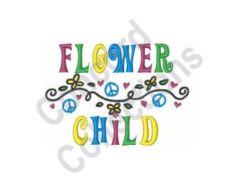 Flower Child - Machine Embroidery Design