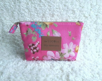 Cosmetic bag, pink cosmetic bag Dominique