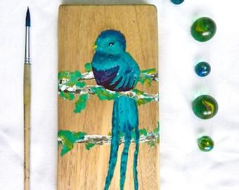 Original acrylic painting on wood   Bird painting   Acrylic on wood   Painting on wood   Gift idea   Home decor   Original gift