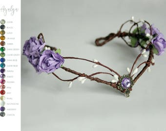 elven tiara  - woodland crown  - fairy crown- statement jewelry