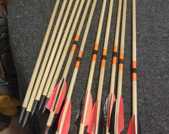 Handmade hardwood arrows