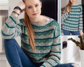 Ladies crochet sweater multicolor sweater multicolor wool crochet / custom