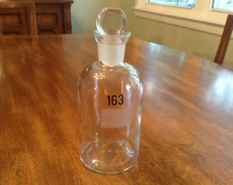 REDUCED Vintage Apothecary Reagent Bottle