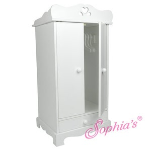 Beau 18u2033 Doll White Hand Painted Doll Armoire