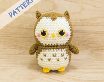 Owl Crochet Pattern - Amigurumi Owl Pattern - Owl Plush Pattern - Owl Toy Pattern - Owl Stuffed Animal Pattern - Amigurumi Pattern Owl