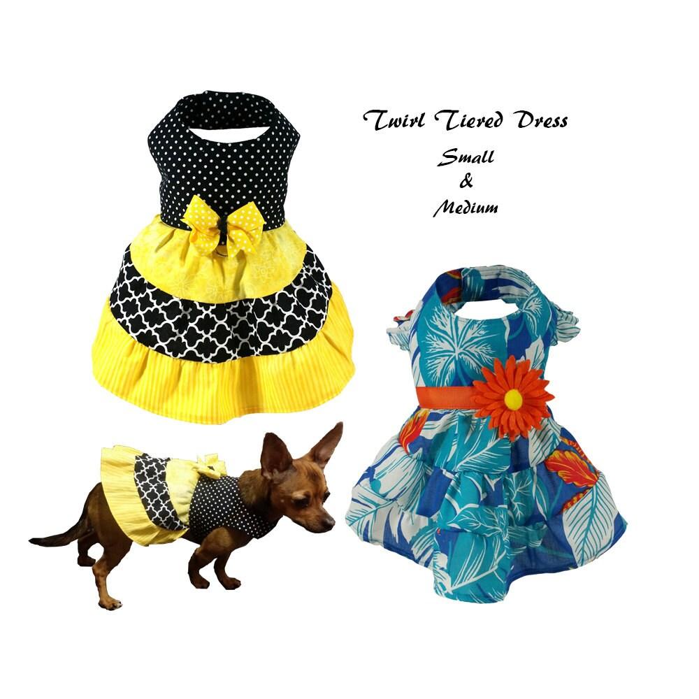 Twirl tiered dress small medium sewing pattern pdf dog zoom jeuxipadfo Image collections