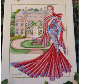 Lady Sybil Country House: Haute Couture Dress PDF Counted Cross Stitch Chart Patter Instant Download