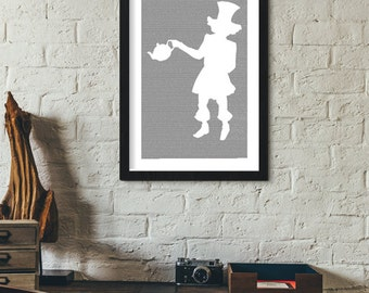 Alice in Wonderland Book Poster (Mad Hatter Design)