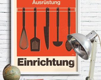 Swiss Kitchen typography Graphic print