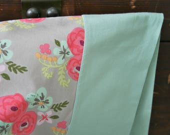 Gift for Her, Organic Pillowcase,  Organic Standard Pillowcase, Pillow Case, Floral Pillowcase, Bloom, Eco Pillocase, Floral, Ready to Ship
