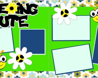 """Scrapbook 2 Page Layout """"Beeing Cute"""""""