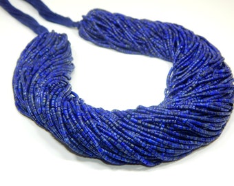 70%OFF OFF Lapis Lazuli Tube Beads 100 Percent Natural Gemstone - Size 2.mm Approx  - 0397