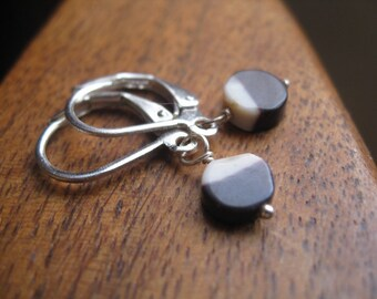 Sample Sale. mookaite dangle earrings. modern leverback earrings.