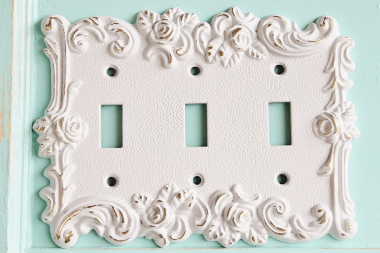 Outlet Switch Covers Victorian Antique Vintage Style Rose 3 Toggle Light Switch