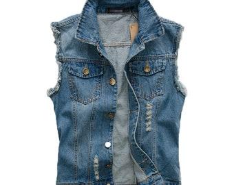 Men's Street Styled Jean Vest