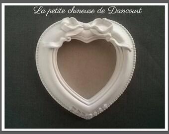 Plaster Romance heart frame