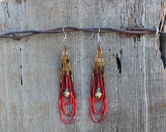 Rosa Bell Beaded Earrings