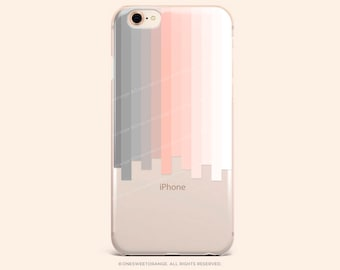 iPhone 8 Case iPhone X Case iPhone 7 Case Ombre Stripes Clear GRIP Rubber Case iPhone 7 Plus Clear Case iPhone SE Case Samsung S8 Case 274