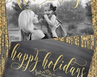 Foil Christmas Cards, Christmas Cards, Chalkboard Christmas Cards, Gold Christmas Cards, Glitter Christmas Cards