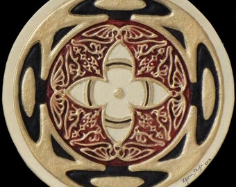 Inner Vision - Cast Paper - Irish Art - Scottish - Celtic Wheel