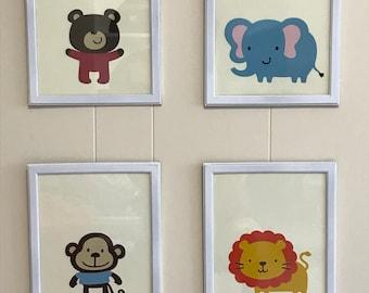 Cuddle critter framed pictures