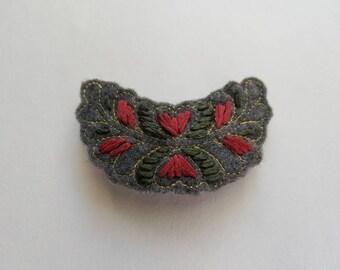Embroidered Barrette
