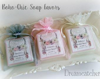 Dreamcatcher Shower Favor, Aztec, Boho,  Bridal Shower,  Baby Shower, Soap Favors, Set of 12