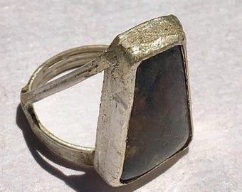 Sterling silver x Labradorite ring