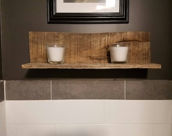 Rustic Reclaimed Wood Decor Shelf