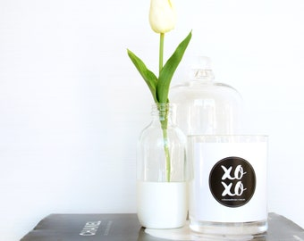 "Lemongrass ""XOXO"" Hand Poured Large Soy Candle"