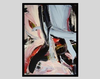 BLUSH, original abstract painting, CHOOSE FRAME