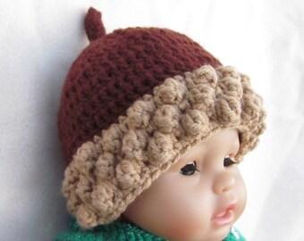 Crochet Acorn Hat, Photo Prop Beanie, Christmas Gift, Crochet Baby Hat, Baby Acorn Hat, Crochet Acorn Hat, Newborn Acorn Hat