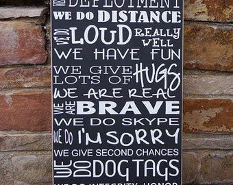 In this house we do deployment | military family sign | Deployment Sign | Soldier Homecoming